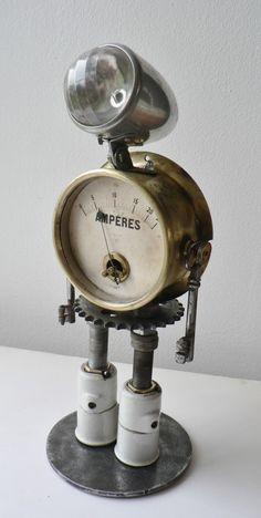 sculpture robot Mr AMPERES