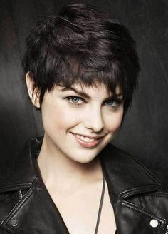 Funky Pixie Cuts for Thick Hair