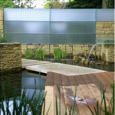gabion walls - glass
