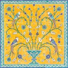 Hand Painted Decorative Tiles Simple Victorian Botanical Mural On Ceramic Tiles My Style Hand Decorating Inspiration