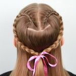 Lace Braid Heart Hairstyle {Back}