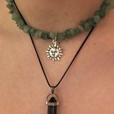 Grunge Jewelry, Funky Jewelry, Hippie Jewelry, Cute Jewelry, Jewelry Rings, Jewelry Accessories, Ring Necklace, Pendant Necklace, Mode Emo