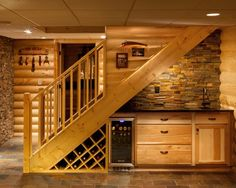 I feel a basement redo coming up.  Lol. Under stairs wet bar.   Basement Cottage Bathroom Design, Pictures, Remodel, Decor and Ideas - page 6