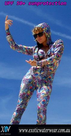 Sunprotection with style! Buy unique colorful stingersuits online now www.exoticwaterwear.com.au