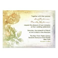 vintage wedding invitation   Click on photo to purchase. Check out all current coupon offers and save! http://www.zazzle.com/coupons?rf=238785193994622463&tc=pin