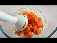 Mescola le carote con la farina e prepara questa ricetta davvero sfiziosa. Ha solo 90 Kcal! Brunch, 3 Ingredient Recipes, Veggie Tales, Bread Bun, French Food, Appetisers, Kitchen Recipes, Sweet Bread, Clean Recipes