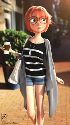 Trendy Girl by Ricardo Orellana