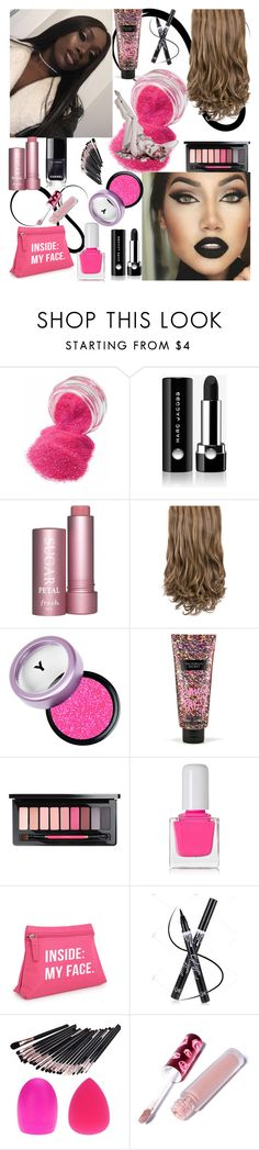 """Hair,Makeup&Nails..."" by detroitgurlxx ❤ liked on Polyvore featuring beauty, Marc Jacobs, Victoria's Secret, MAC Cosmetics, tenoverten and Lime Crime"