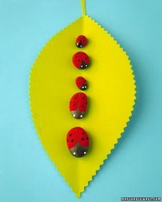 DIY Painted Rock Ladybugs
