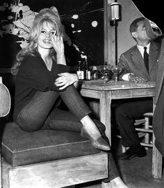 Brigitte Bardot On set of La Verite in Paris, France.