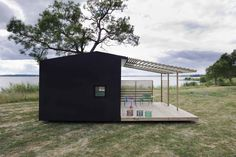 Prefabricated cabin concept. Can be built in two days - Jonas Wagell The homes are built on a concrete foundation and are typically constructed in only two days.