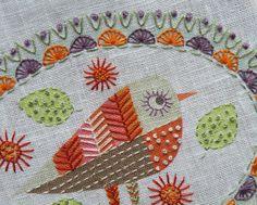 Birdie 3 Embroidery kit Detail