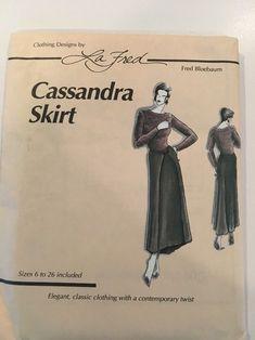 Cassandra Skirt By Fred Bloebaum La Fred Pattern Size 6-26 UNCUT Envelope may have shelf wear and or minor tears | eBay!