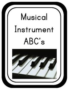 This is an alphabet chart that uses musical instruments for the letters. Included is a set with the letter in print and a set in cursive. There are some letters with more than one instrument. Just choose the one you would like to use. I printed mine on card stock and laminated them before mounting them on the wall.