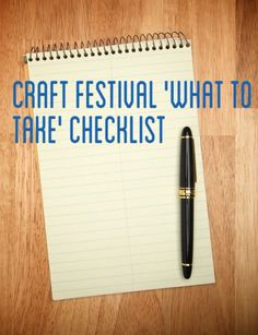 25 things to pack before you head out the door to your next craft festival.