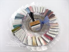distress ink blending pads - might try this - rather than just tossing them all in a drawer like I do now