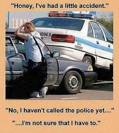 Funny Wife Car Accident Meme
