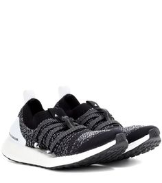 Adidas by Stella McCartney - Ultra Boost X sneakers - The Ultra Boost X sneakers from Adidas by Stella McCartney look just as cool when you're out running as when you're walking around the city. In a cool black and white colourway, this sleek pair looks great paired casually with distressed denim. seen @ www.mytheresa.com