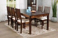 OONA-ruokailuryhmä tumma pähkinä (pöytä 170x90cm ja 6 tuolia verhoiltu istuin)