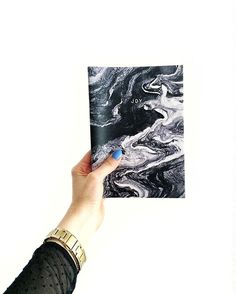 Joy notebook by papeROSA Marble Marbled Notebook Notepad www.paperosa.pl