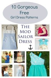 10 gorgeous free girl dress patterns:  Get access to 10 gorgeous free sewing patterns for girls clothing.  PAtterns and sewing tutorials included