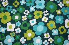 1960's flower table cloth