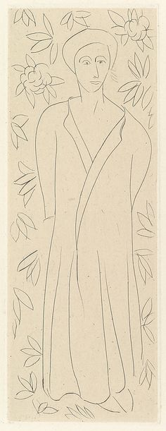 "Henri Matisse ""The Persian"" 1914 Drypoint with chine colle"