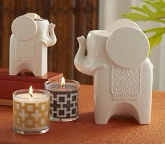 Elephant tealight & candle holder, Safari Chic Scented Mini Jar Candle Pair www.partylite.biz/HeavenlyAdriana