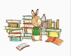 Bookish Bunny by kit chase
