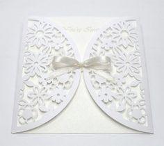 free cut file. Flower envelope