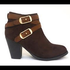 """Price DropNWT Pierre Dumas Brown Boot 4"""" Heel Be beautiful in these brown booties! With a 3"""" heel and gold accents, your feet will be the center of attention. Zipper enclosure for a personal fit. Don't miss out! Shu Shop Shoes Ankle Boots & Booties"""