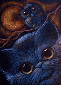 October is for owls & cats...    by Cyra R. Cancel