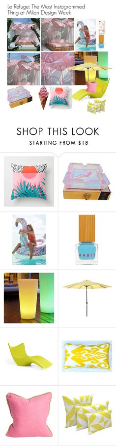 """Pinky & Sunny"" by changethisonce ❤ liked on Polyvore featuring interior, interiors, interior design, home, home decor, interior decorating, Urban Outfitters, Habit Cosmetics, Smart & Green and Jordan Manufacturing"