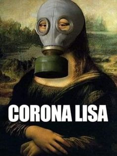 Mona Lisa wearing a gas mask art Gas Mask Art, Masks Art, Mona Lisa Louvre, Pop Art, Classical Art Memes, La Madone, Mona Lisa Parody, Mona Lisa Smile, Principles Of Art