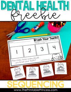Dental Health Read Alouds and Freebie - Todo Sobre La Salud Bucal Dental Health Month, School Health, Kids Health, Procedural Writing, Free Dental, Health Activities, Free Preschool, Preschool Ideas, Health Lessons