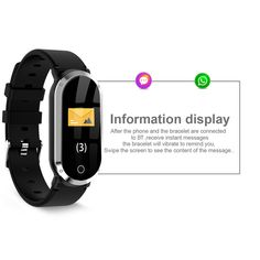 T1 Smart Bracelet gold Online Shopping | Tomtop Baby Monitor, Heart Rate Monitor, Smartwatch, Smart Bracelet, Bracelet Watch, Apple Technology, Ios 8, Fitbit Alta, Blood Pressure