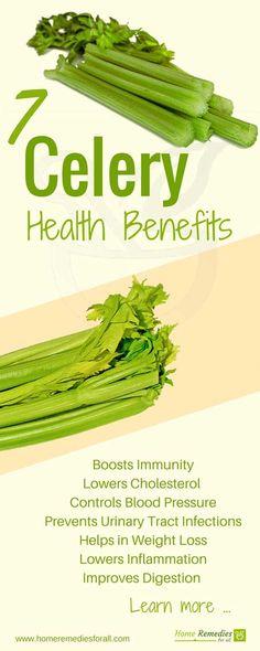 celery health benefits infographic