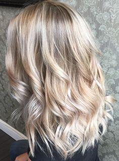 Perfect blonde balayage highlights 2017