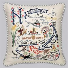 Nantucket Home, Inc. | Nantucket Embroidered Pillow