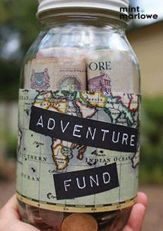 A cute way to save for those new adventures..... #adventurefund #travelfund #adventure #travel #savings #piggybank