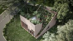 Penda unveiled designs for Yin & Yang House, an off-grid home Kassel, Germany with a stunning rooftop garden. Green Architecture, Architecture Design, Sustainable Architecture, Residential Architecture, Contemporary Architecture, Yin Yang, Roofing Options, Garden Design, Green Building