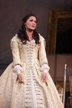 """Anna Netrebko as Violetta in """"La Traviata"""" by Giuseppe Verdi."""