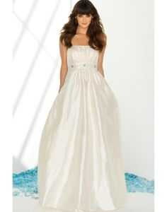 Beautiful & Unique dress - Elegant Ruching Beading Strapless Taffeta A-line Sweep Train Wedding Dress on sale - Persun