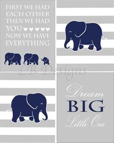 Navy Blue and Gray Boy Elephant Nursery Wall Decor, Boy Jungle Nursery Prints, Elephant Family Print Jungle Nursery Boy, Elephant Nursery Wall Decor, Nursery Prints, Nursery Art, Nursery Ideas, Room Ideas, Grey And Navy Nursery, Creations, Neutral Nurseries