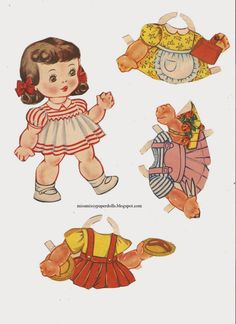 NANCY AND HER DOLLS from Saalfield 1944 Six Little Dolls for Big Nancy Paper Doll  8  of 17