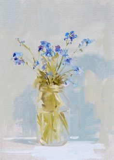 Forget-me-nots oil on board 18 x 25 cms £130.JPG