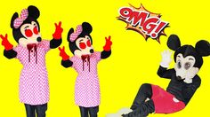Mickey Mouse & Minnie Mouse New Episodes! ZOMBIE! Learn Color Finger Fam...