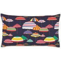 Pillow Cover Cushion 20x20    navy pink yellow green beach umbrellas