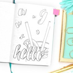 WundertastischDesign Etsy Shop Announcement // Bullet Journal Stickers & Printables for your BuJo • • • Launching December 14th, 2016 • The very first step, of course, is the brainstorming and design phase. I really enjoy decorating my bullet journal with little doodles and full page monthly coloring pages. This makes being productive just way more fun for me.