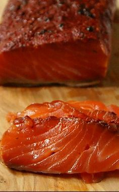 Pastrami Salmon Gravlax - great on a bagel and cream cheese or just on its own. Pastrami Salmon Gravlax - great on a bagel and cream cheese or just on its own. Jewish Recipes, Meat Recipes, Seafood Recipes, Cooking Recipes, Online Recipes, Smoked Fish, Smoked Salmon, Butter Salmon, Edamame